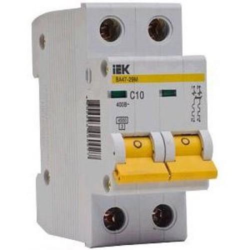 Автоматический выключатель IEK ВА47-29 2п, 10А, С 4.5кА MVA20-2-010-C - электротехническое оборудование, электротехническая продукция