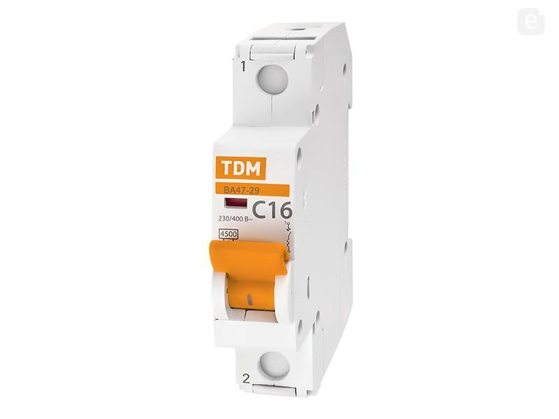 Автоматический выключатель ВА47-29 1Р 16А купить электротехническое оборудование поставка электротехнической продукции