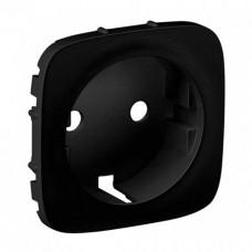 Лицевая панель для розетки 2К+З серии In'Matic, антрацит. Valena Allure 755208 Купить электротехническое оборудование, поставка электротехнической продукции,продажа электротехнической продукции,электротехническое оборудование, электротехническая продукция